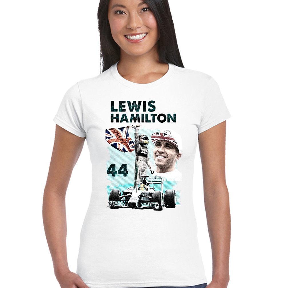 a68e8a81 Details zu Womens Lewis Hamilton Tribute Fan T-Shirt Funny free shipping  Unisex Casual
