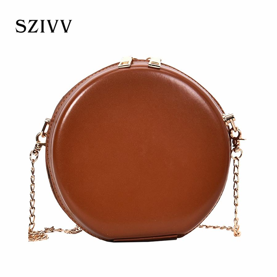 New Women S Round Bags Pu Leather Circle Box Handbags Messenger Bag For  Lady Causal Shoulder Bags Circular Bag Leather Tote Bags Clutch Purse From  ...