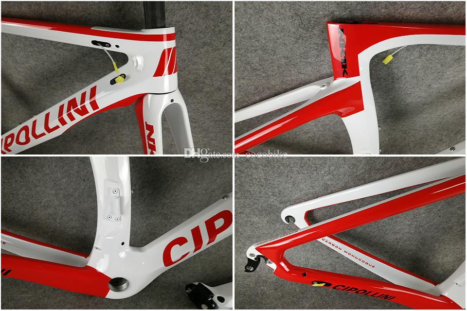 Model of White-Red 3K/1K T1000 Cipollini NK1K carbon road frames+Handlebar+Saddle with BB68/BB30 Matte Glossy for selection