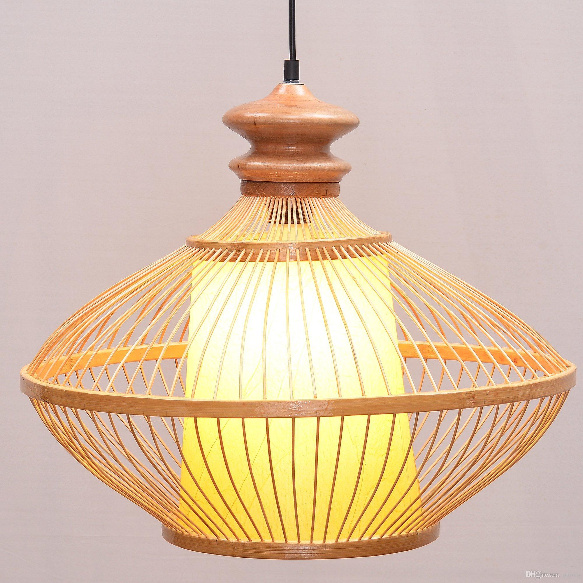 Acheter Sud Asiatique Bambou Vase Salle A Manger Plafonnier Lampe