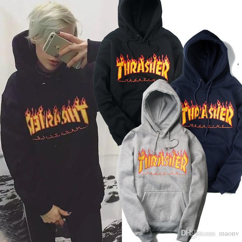 Men s Hip Hop Sportswear Hooded Sweatshirts Europe American Tide ... e8a584f447