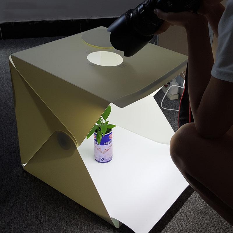 40 * 40 * 40 سم المحمولة قابلة للطي ستوديو ضوء مربع التصوير الفوتوغرافي Softbox طوي استوديو مع الصندوق الأسود / أبيض Backgound لينة مربع