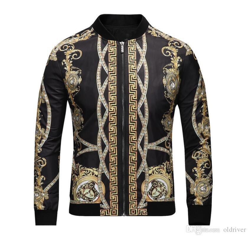Autumn And Winter New Designer Jacket Men Fashion Digital Print