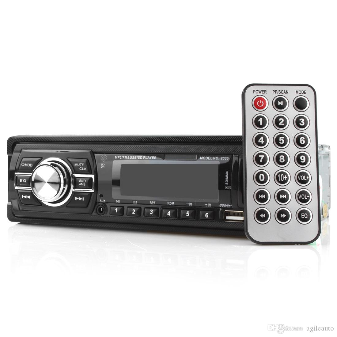 New Arrival Car Audio Stereo In-Dash FM Aux Input Receiver SD USB MP3 Radio Music Player with Remote Control CEC_820