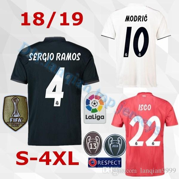 best loved 0376d 1b8e2 Größe S-4XL 2018 19 Real Madrid BALE Fußball-Trikot 18 19 MODRISCHE BENZEMA  SERGIO RAMOS MARIANO ISCO NAVAS ASENSIO Hause weg 3. Fußball-Trikot
