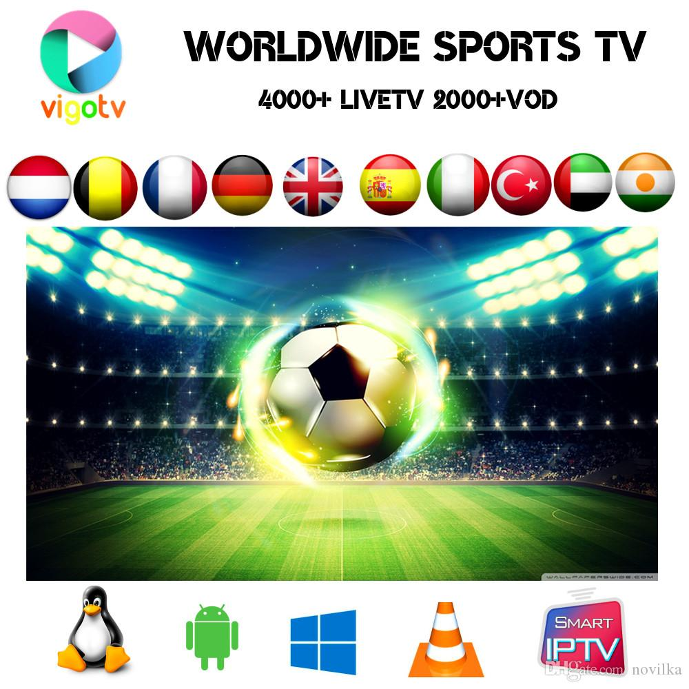 VIGO IPTV Arabic,Turkish ,Scandinavia,UK,Brazil Portugal Pakistan channels  4000 live 2500 vod film EPG on Smart tv android tv box