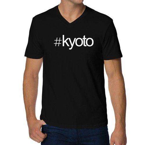 889f2d23 Hashtag Kyoto Bold Text V Neck T Shirt HOT SELL 2018 New Fashion Brand Men  Tees Solid Color Short Sleeve 100% Cotton Casual 10 T Shirt Awesome T Shirts  ...