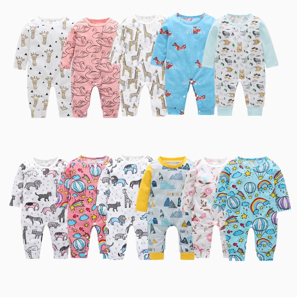 b9436f2d4bec 0-3y Newborn Baby Bodysuit Infant Boy Long Jumpsuit Toddler Baby ...