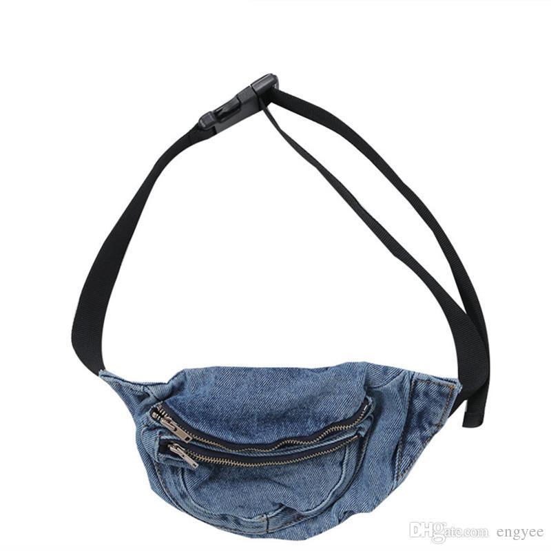 2b736509cd8ac Denim Bag Waist Bags Women Designer Fanny Pack Fashion Belt Female Wallet  Purse Travel Organizer Jean Bag Waist Pack Girl Side Bags Handbag Sale From  Engyee ...