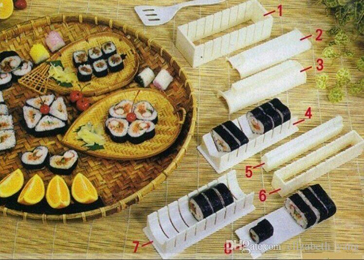 vendita calda New perfetti strumenti di cottura fai da te Sushi Maker Riso Stampi cucina Sushi Fare Tool Set