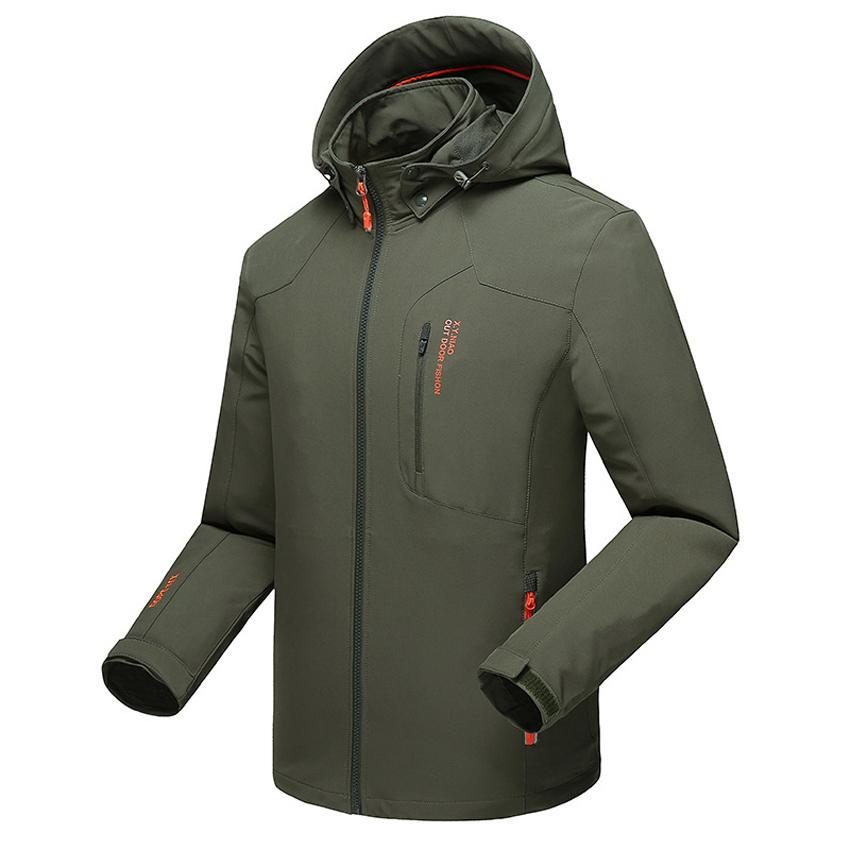 Jackets Hot Sale Plus Size 8xl 6xl 5xl 4xl Fall Autumn Jacket Men 2 In 1 Set Parka Jacket Windproof Waterproof Hooded Overcoat Casual Male Jacket