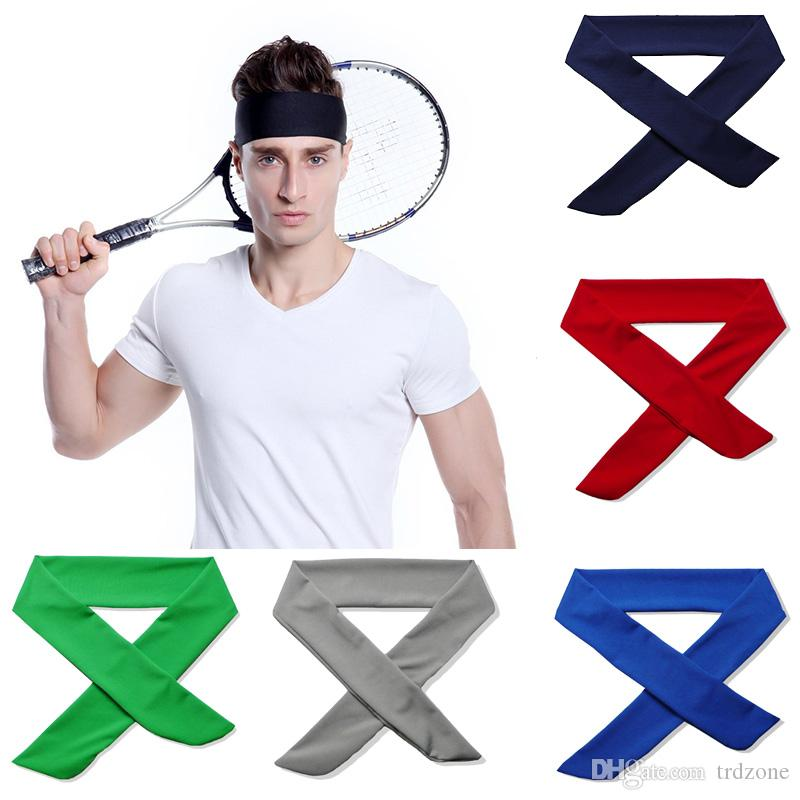 20 color Solid Cotton Tie Back Headbands Stretch Sweatbands Hair Band Moisture Wicking Workout Men Women Bands