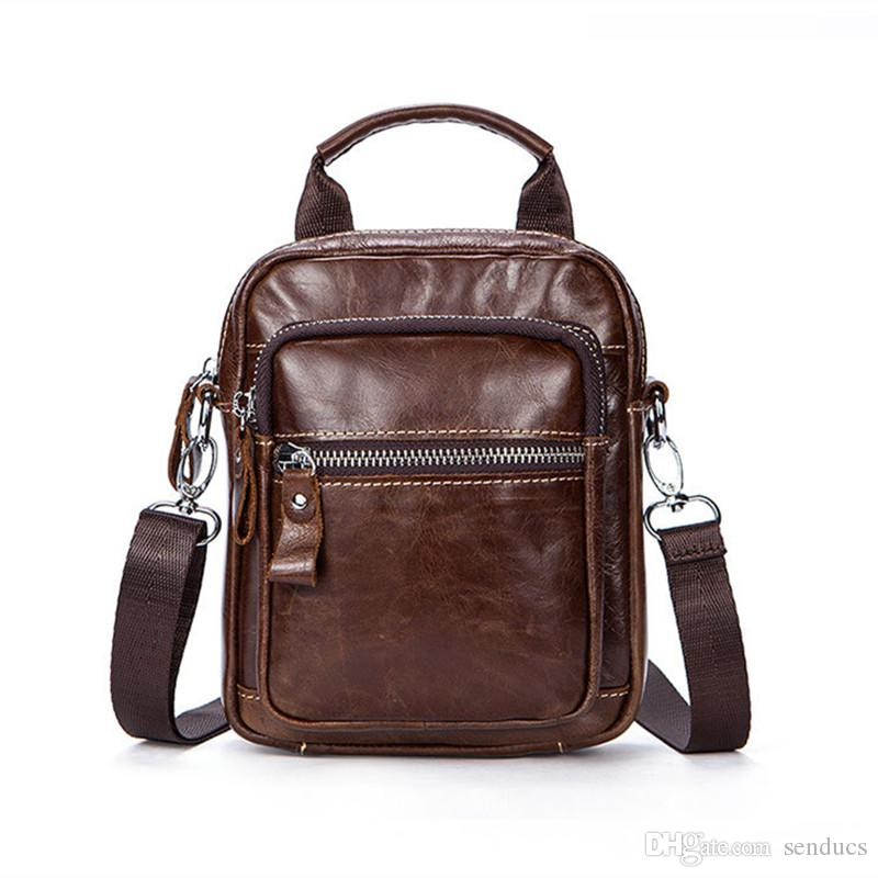 Genuine Leather Men S Bag Messenger Bag Men Leather Shoulder Bags Sling  Small Black Mens Crossbody Bags Ipad Satchels Designer Purses Satchel Bags  From ... ac6b59315