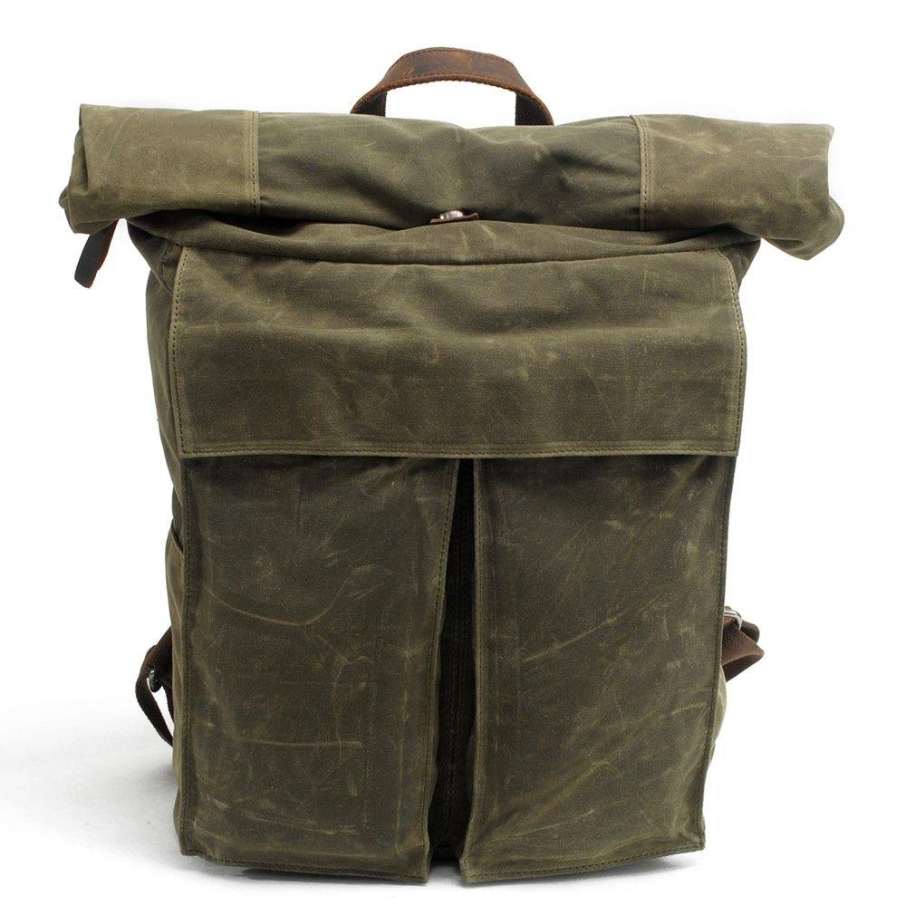 Mens Batik Canvas Backpack New Retro Simple School Bag Street Trend Brown Personality Korean Kids Bags For From Dyn02
