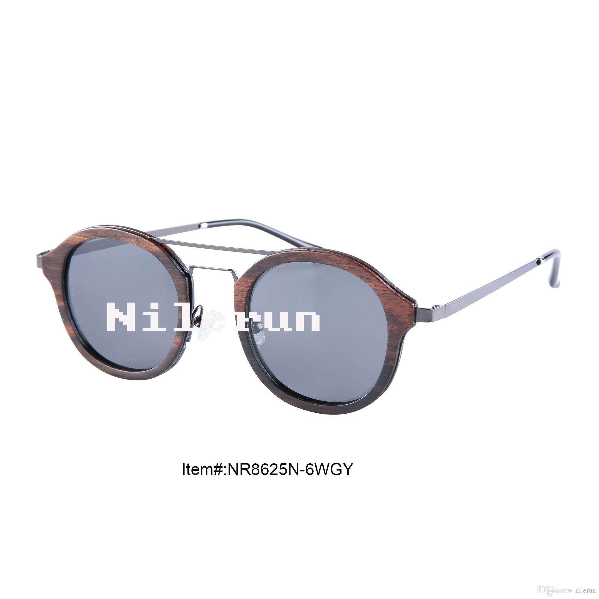 6ca2f717f8 Unisex Round Gray Metal Ebony Wood Sunglasses Unisex Sunglasses Ebony Wood  Sunglasses Gray Metal Sunglasses Online with  46.4 Piece on Nilerun s Store  ...