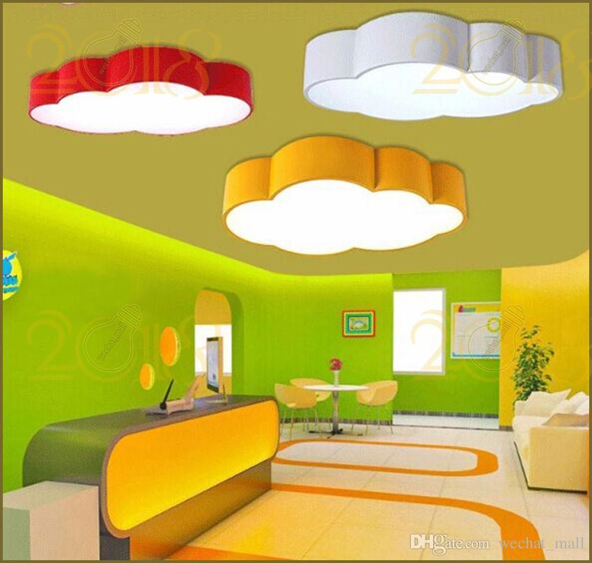 Großhandel Led Cloud Kinderzimmer Beleuchtung Kinder Deckenleuchte Baby  Deckenleuchte Mit Gelb Blau Rot Weiß Für Jungen Mädchen Schlafzimmer  Armaturen Von ...