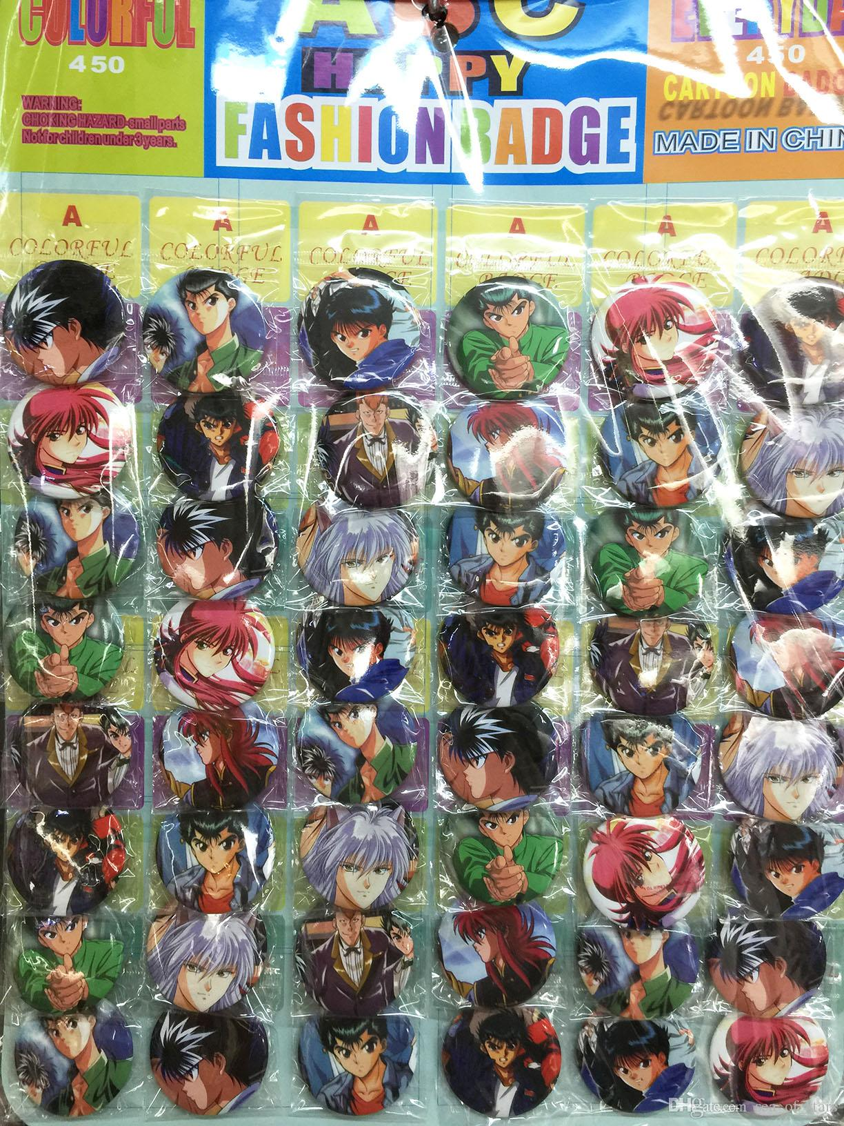 yuyu hakusho 4 5 cm set pin back badges buttons new for party cloth