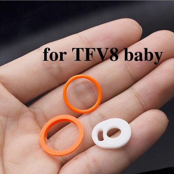 O anel de Silicone O anel de vedação de silicone O-rings substituição Orings Set novo para Fumaça TFV4 TFV8 TFV8 bebê X Grande TFV12 Príncipe v