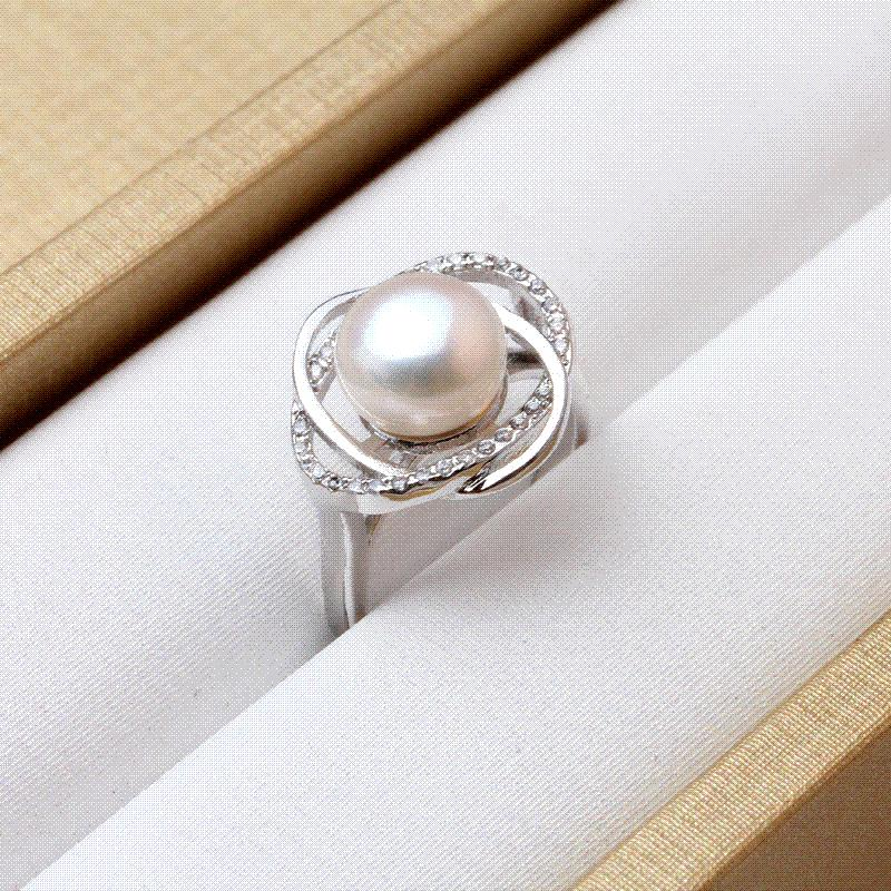 de88c9791 Real Ring Pearl Jewelry,Natural Pearl Rings For Love,Freshwater Pearl 925  Silver Ring,Ruby Silver Rings For Women Gift Box Princess Cut Diamond Men  Wedding ...