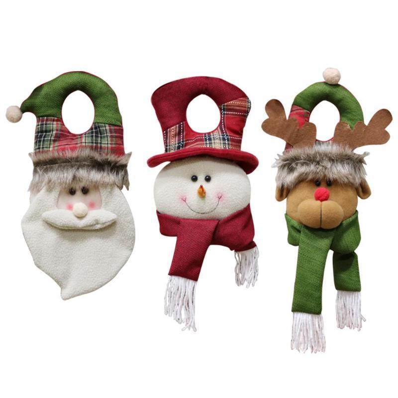Großhandel Weihnachtsbaum Tür Ornament Handwerk Weihnachten Hängende ...