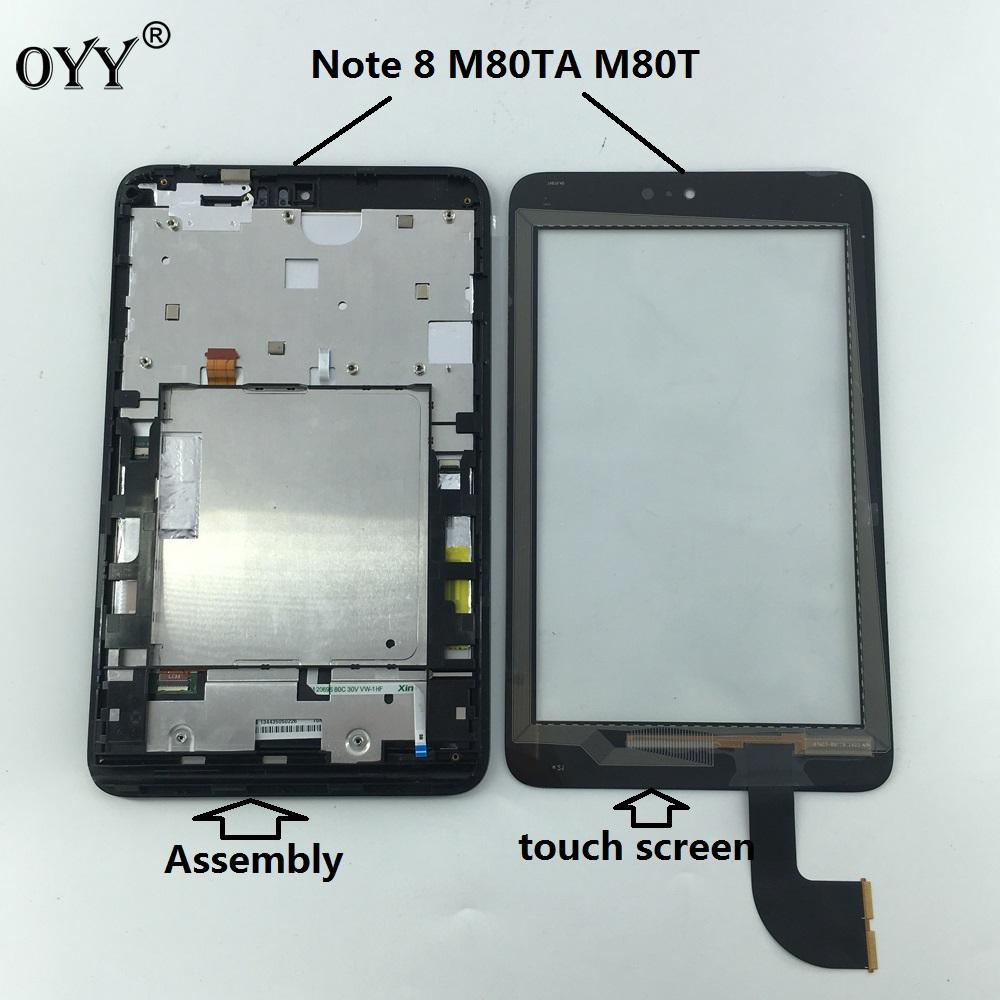 LCD display screen touch screen Digitizer Assembly with frame Replacement  parts For ASUS VivoTab Note 8 M80TA M80T