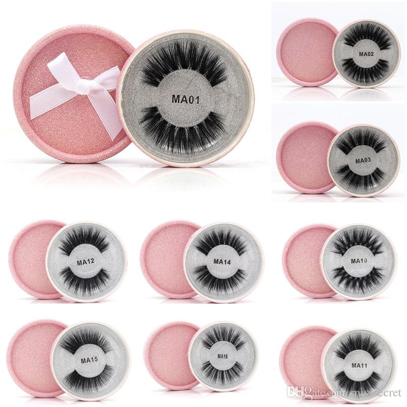 16 Styles 3D Faux Mink Eyelashes False Mink Eyelashes 3D Silk Protein Lashes 100% Handmade Natural Fake Eye Lashes with Pink Gift Box