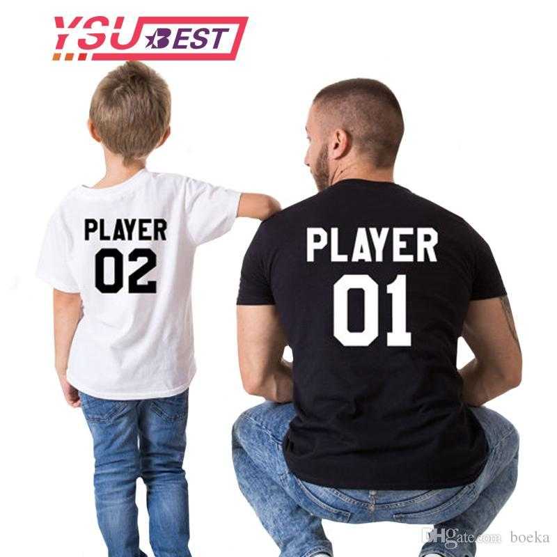 14c526776e42 Family Matching Outfits Father And Son 2018 Baby Summer Family Outfits  Clothing T Shirt For Dad Son Clothes Father Son Matching Hilarious Tee  Shirts Online ...