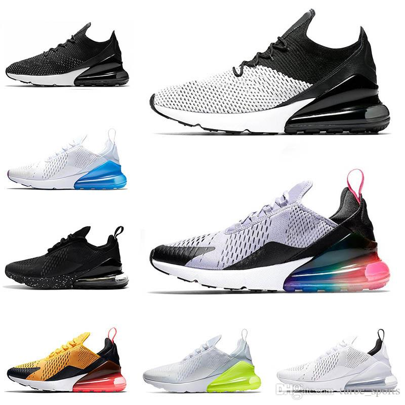 ae699a50b0e423 270 Mens Fly Running Shoes Knit BE TRUE White Volt Triple White ...