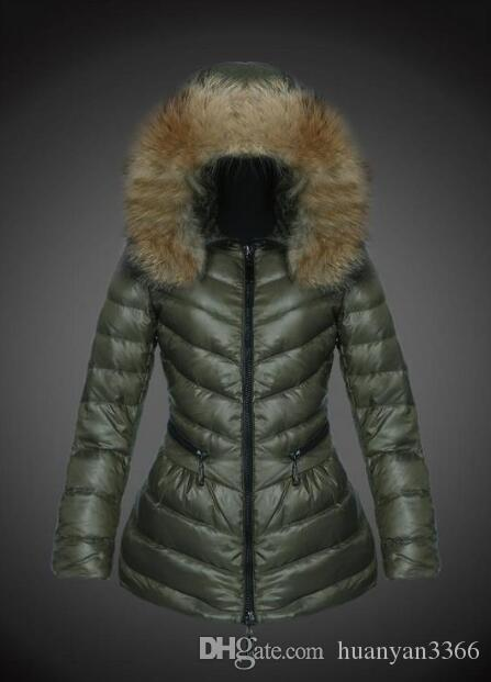 Frankreich Luxus-Wintermantel Frauen dünne Oberbekleidung 90% weiße Gänsedaunen Mäntel Stehkragen beiläufige dünner Parka feste Jacke Online-E758