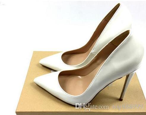 56fb09588db8 Brand Women Pumps Shoes Sole Woman High Heels Pumps Stilettos Shoes Black  Matte Sheepskin Lines Women Wedding Shoes 8cm 10cm 12cm+Box Cheap Shoes For  Men ...