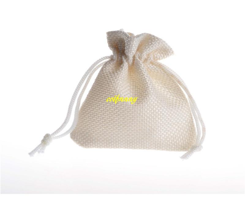 FAST Shipping 7*9cm 10x14cm Wedding Favor Christmas Burlap Jute Gift Bags Colorful Drawstring Pouch