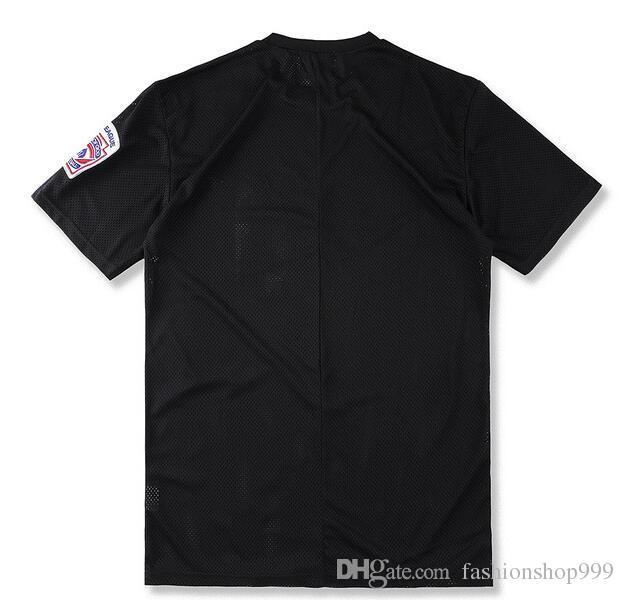 Europa und die Vereinigten Staaten High Street Sommer Mode Loch Sport Kurzarm Männer trendige TEE Brief Drucken T-Shirt
