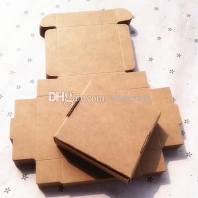 Kraft paper Packaging box Small size Packing paper box cardboard Carton For Ornament jewelry Handmade soap box Gift Black