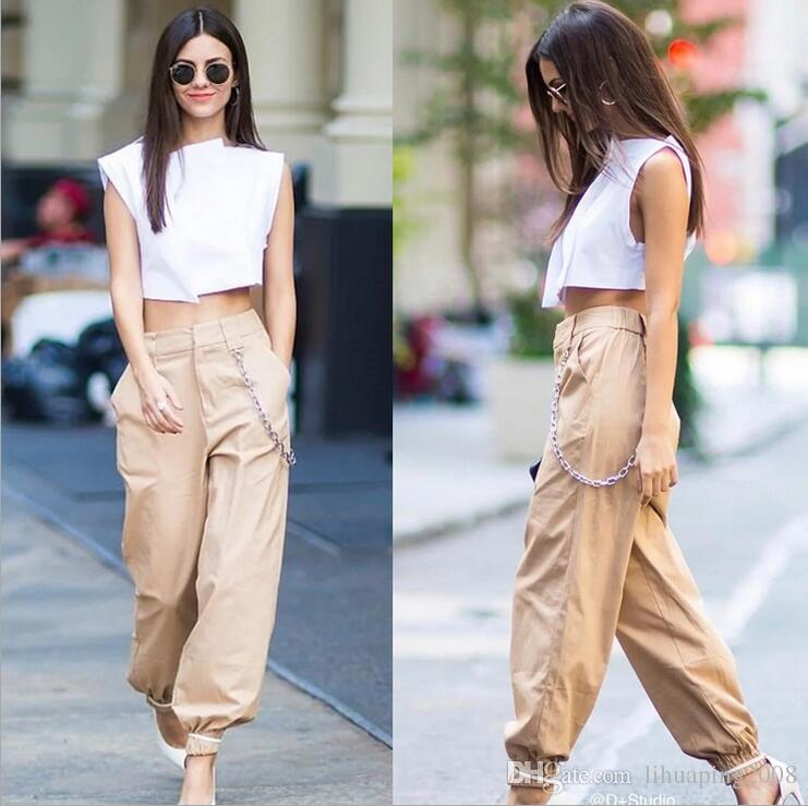 8ef3e938 2019 2018 Spring Army Military Cargo Pants Women Black High Waist Pants  Winter Casual Cotton Office Long Trousers Female Sweatpants From  Lihuaping2008, ...
