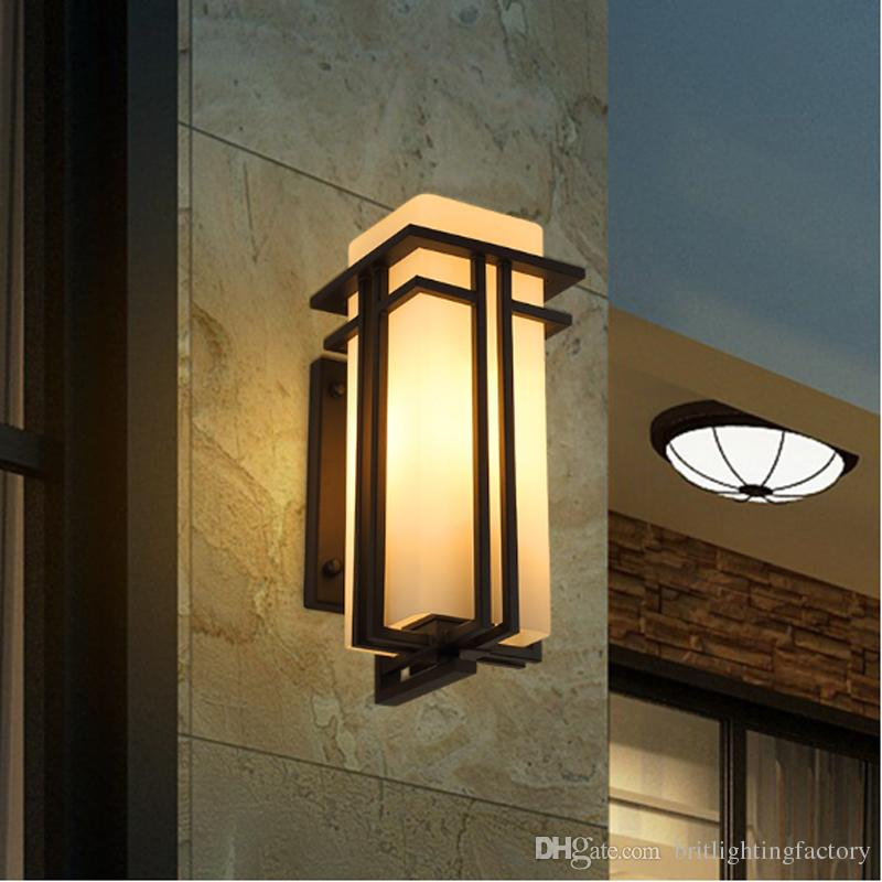 2019 Outdoor Wall Lamp New Chinese Waterproof Exterior