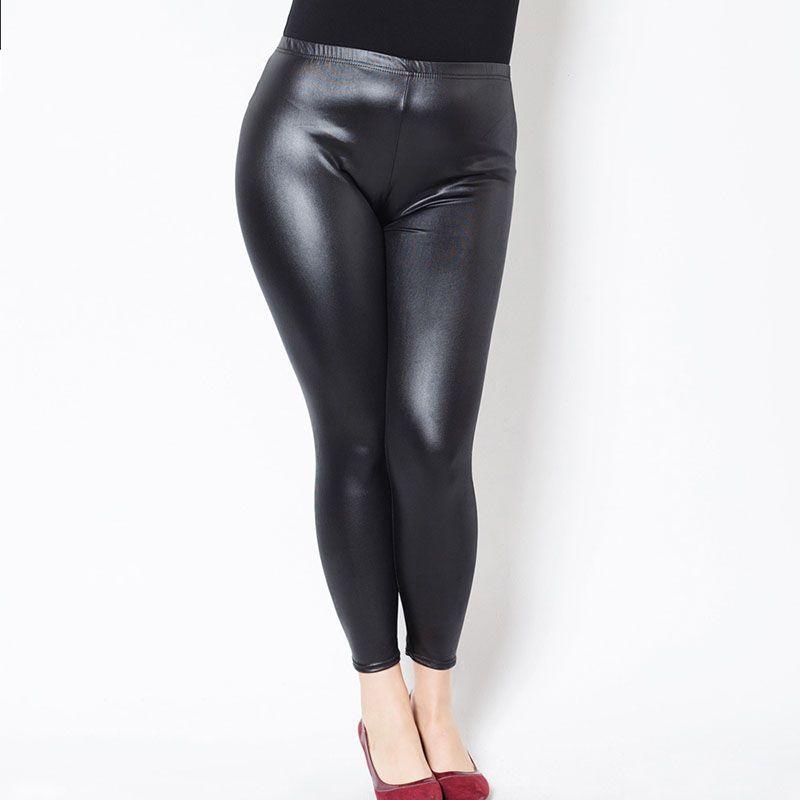 Élastique Pu Pantalon Taille Haute En Cuir Yesello Acheter Femmes 1xBHqw5qS