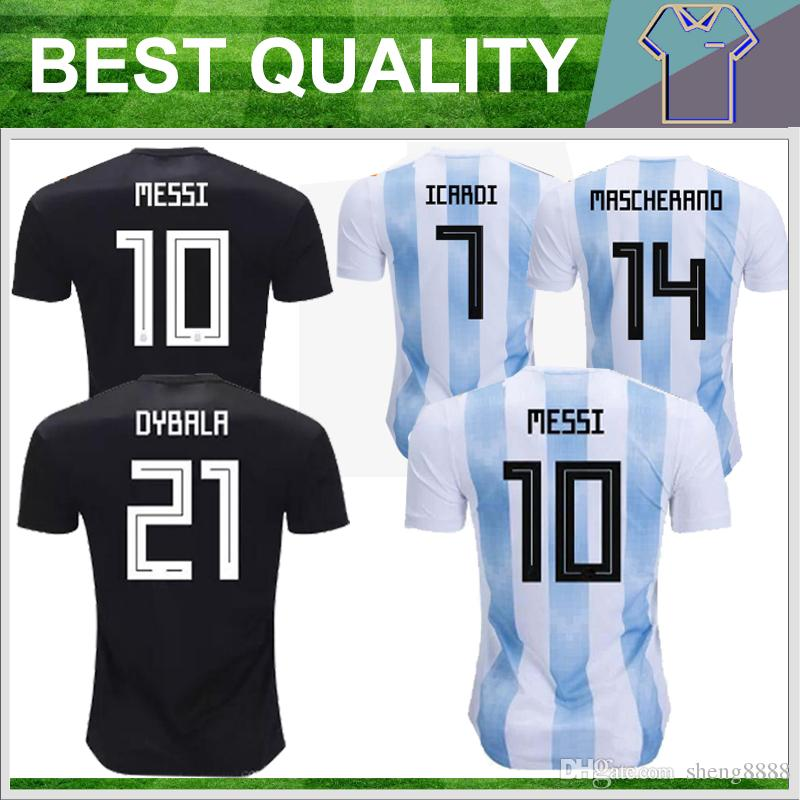 Argentina 2018 World Cup Soccer Jersey Top Quality Home Away Jerseys ... bbe2f1f78