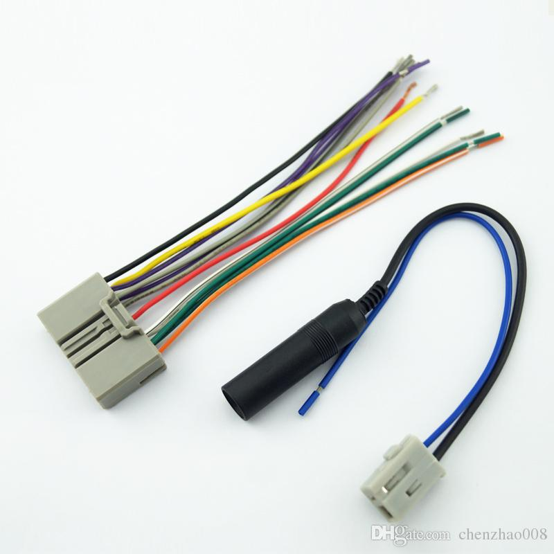 CHENYI Car Audio CD Player Radio Stereo Wiring Harness Antenna Adapter Plug For Honda Civic/Fit/CR-V/Odyssey