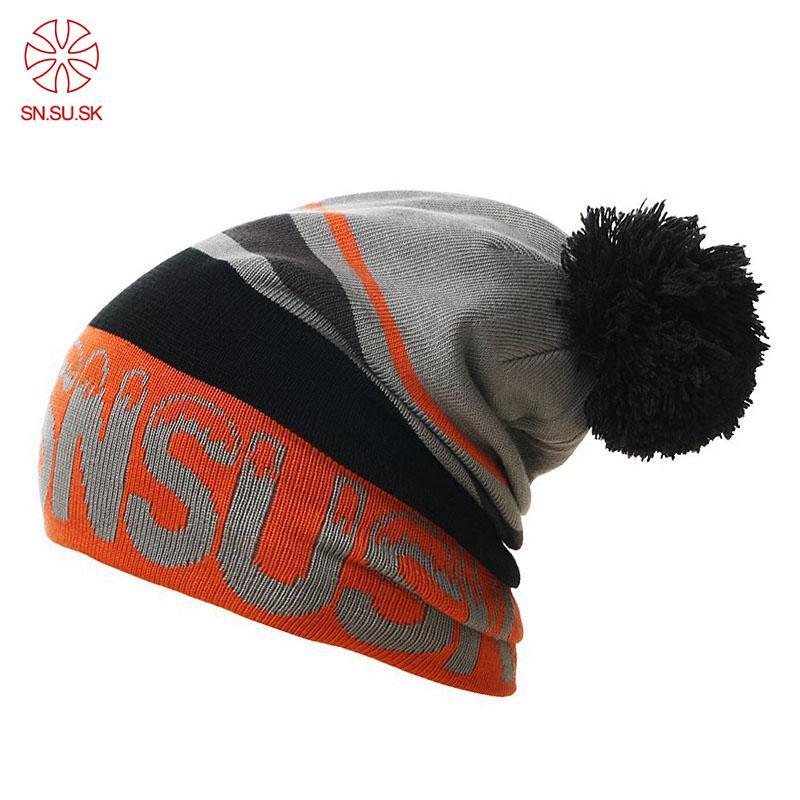 daa16a2b5531b Compre 2018 Winter Gorros SNSUSK Skating Snowboard Skullies Sombrero Gorros  Para Hombre Mujer Beanie Deportes De Punto Sombreros De Esquí A  29.23 Del  ...