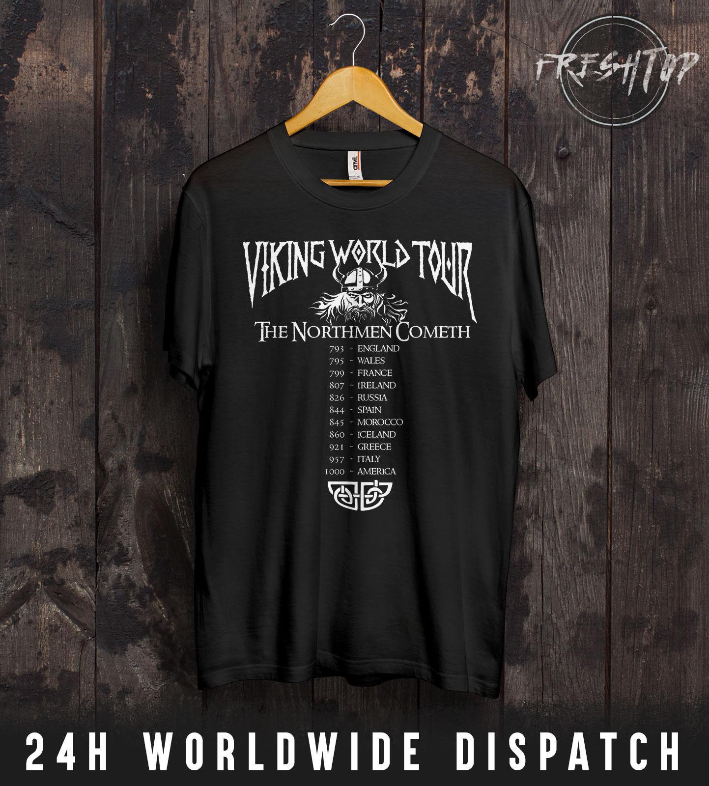 Großhandel Wikinger Welttournee T Shirt Ragnar Lothbrok Schild Mädchen  Krieger Fitness Studio Coole Lässige Stolz T Shirt Männer Von  Designtshirts201804, ... c677e5e6ec