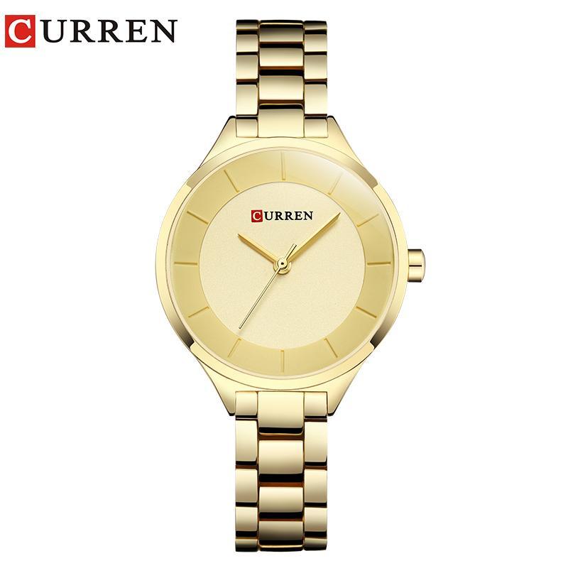 3279369bca5 Compre CURREN Rose Gold Relógio Mulheres Relógios Senhoras De Aço Inoxidável  Pulseira De Mulheres Relógios Relógio Feminino Montre Femme De Lantana