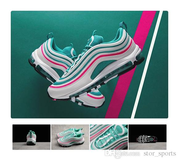 new arrival 4d892 9845d 2018 New 97 South Beach Running Shoes For Men & Women, Fashion 97 97s 3M  Athletic Trainers Sneakers Eur Size 36-44.5
