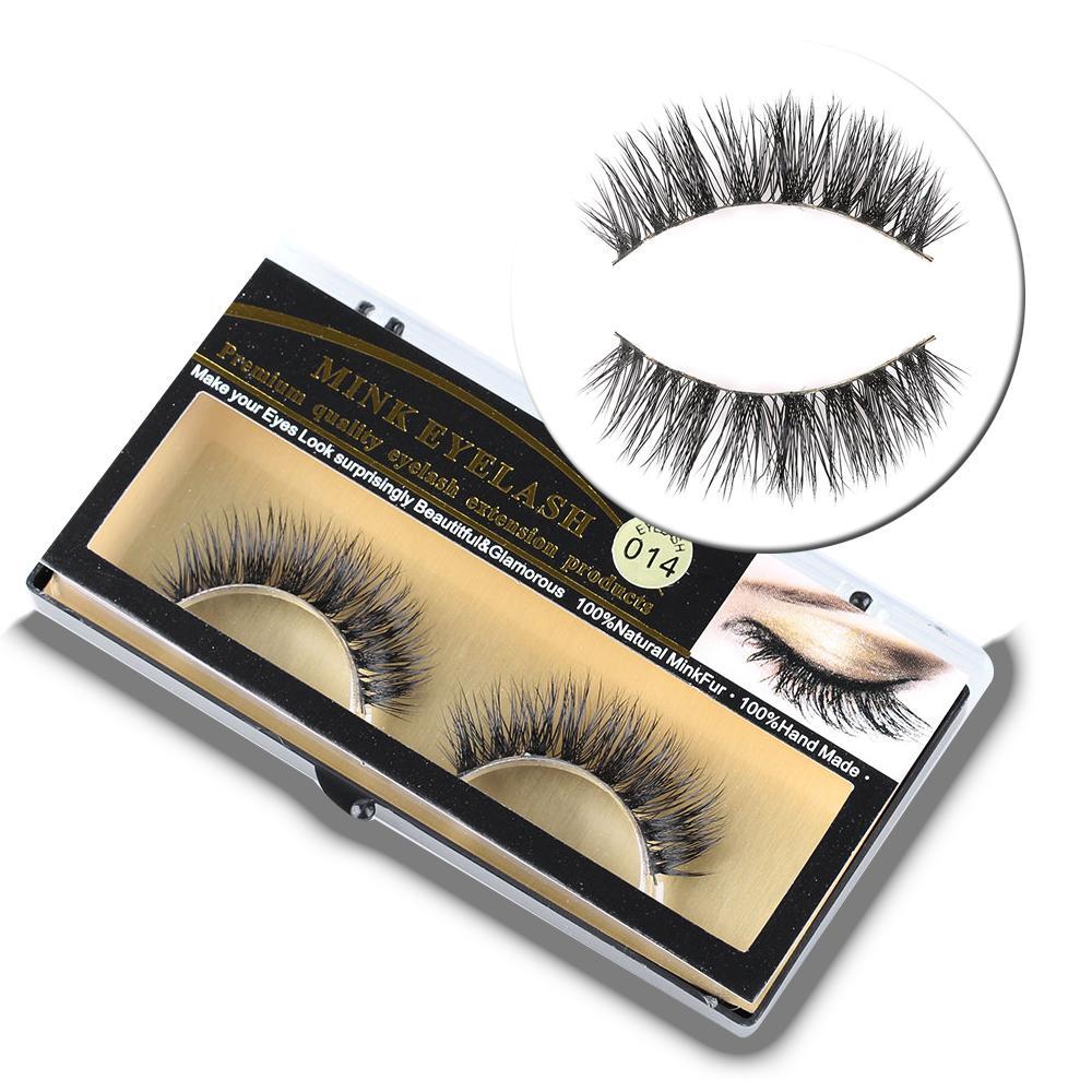 10d12a013e2 Handmade 100% Real Mink Hair False Eyelashes Natural Thick Long Cross Fake  Eye Lashes Cosmetic Makeup Extension Tools Car Eyelashes Fake Lashes From  Goddare ...