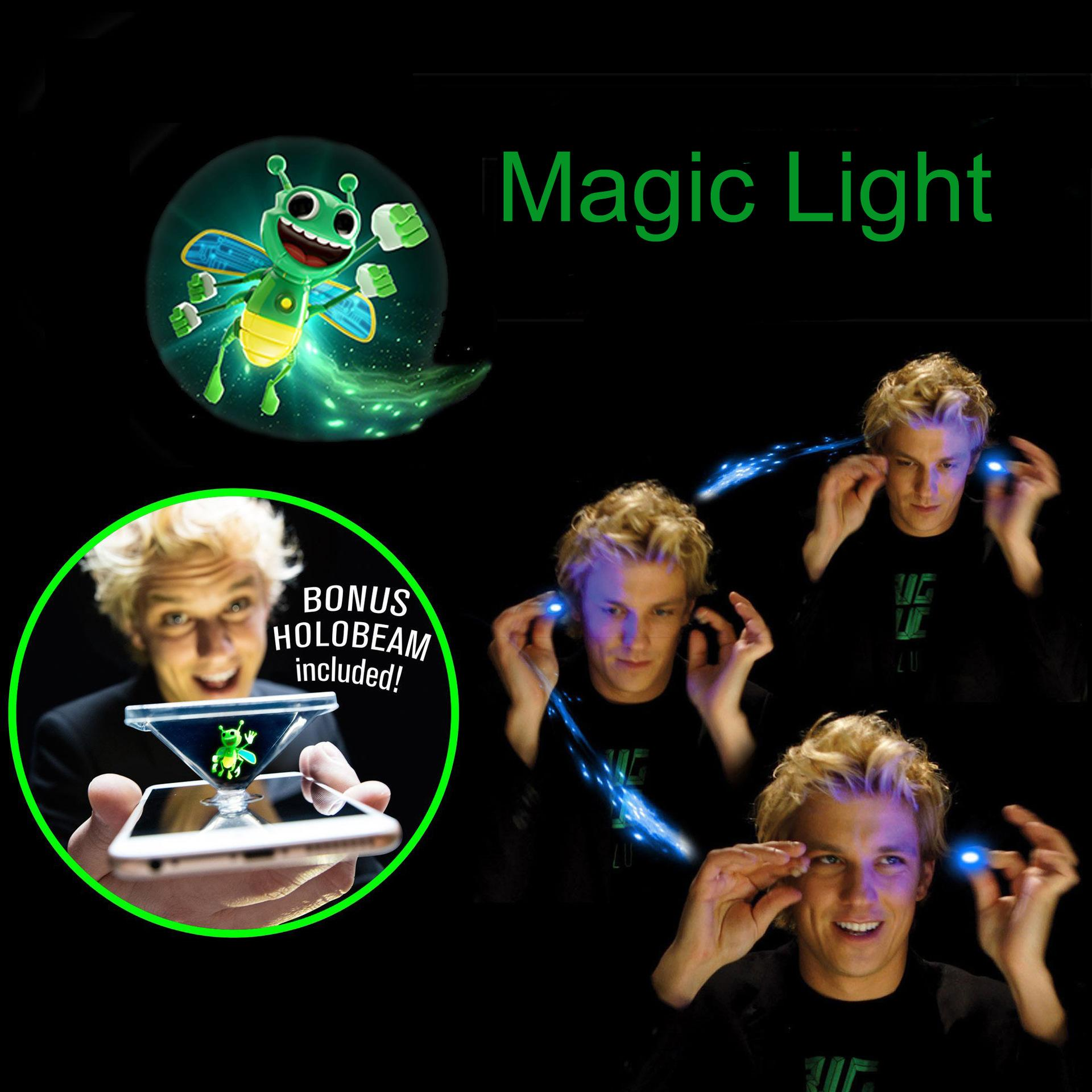 Bright Bugz Magic Lights 3D Bees Light-up Toys Lamp Kit Novelty Gay Trick Toys Magical Glow In The Dark Light Sticks Kids Gifts