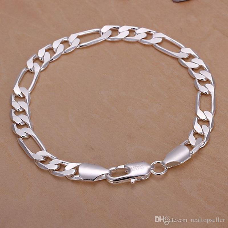 Sterling Silver 8 Inch Snake Bracelet New Ideal Gift For All Occasions Jewelry & Watches