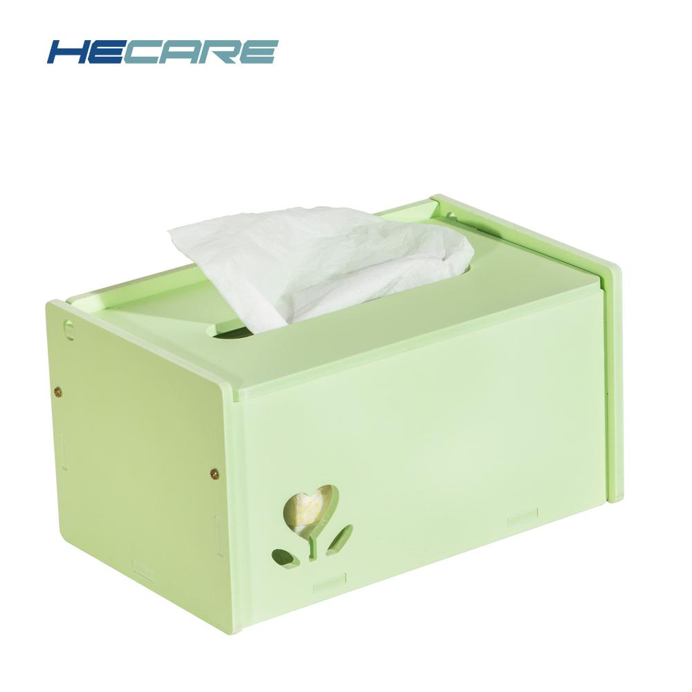 HECARE New DIY Tissue Holder Car Plastic Tissue Box Cover PVC Washable Napkin Holder for Home Office Cute Korean Style Wipes box