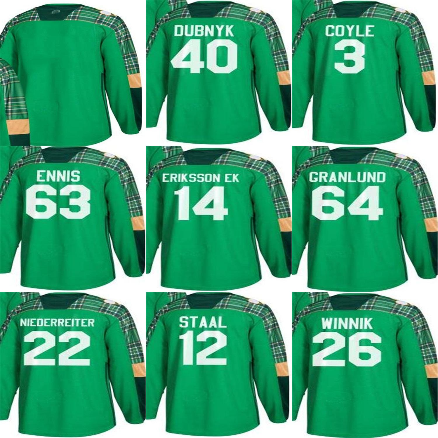 2018 Mens Green St. Patricks Day Minnesota Wild Blank 26 Daniel ... d5f83ef23