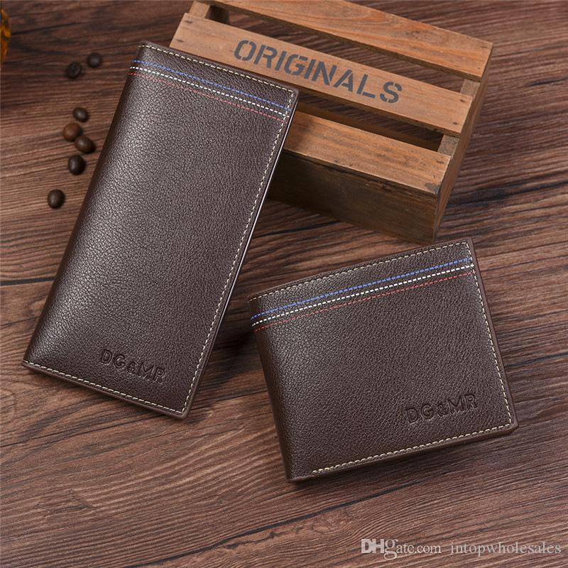 e54efdcffe0 Mens Designer Wallet Simple Casual Style Men Wallet Purse Long   Short  Clutch Thin Male Wallet Top Quality Passport Cover Leather Goods Designer  Wallets ...