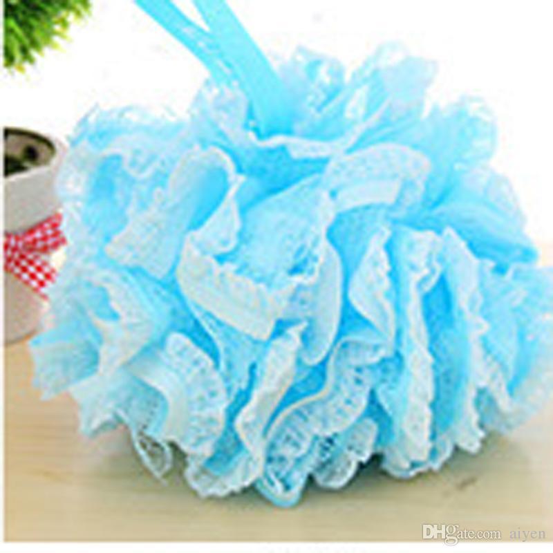 Best Wholesale Blue Bath Ball Flower Bath Tubs Ball Towel Scrubber ...