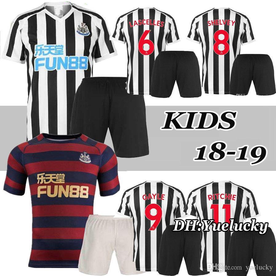 18 19 KIDS Kits Newcastle United Soccer Jersey KIT 2018 2019 MEN ... a12069b64